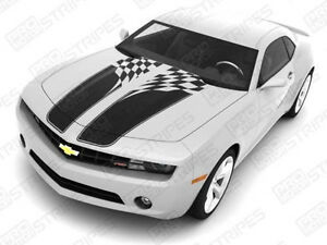Chevrolet Camaro Checkered Flag Racing Stripes Decals 2010 2011 2012 2013