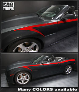 Chevrolet Camaro Devil s Tail Side Stripes Decals 2010 2011 2012 2013 Pro Motor