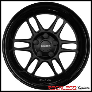 18 Klutch Ml1 Wheels Matte Gloss Black Deep Lip Rims Fits Acura Rl Tl