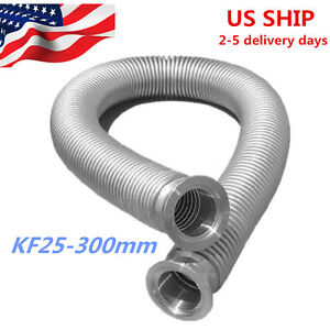 Bellows Hose Metal Kf 25 11 8 Inch Tubing 300mm iso kf Flange Size Nw 25 Us