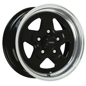 15x7 Vision Nitro Black Sport Star Pro Drag Racing Wheel 5x4 75 1pc No Weld