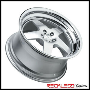18 Klutch Sl5 Silver Wheels Deep Lip Rims Fits Hyundai Veloster