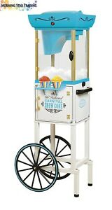 Commercial Snow Sno Cone Maker Cart Shaved Ice Icee Machine Slushy Slush Crusher