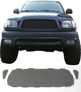 Ccg Flat Black Perf Ss Precut Mesh Grill Set For A 2001 04 Toyota Tacoma Grille