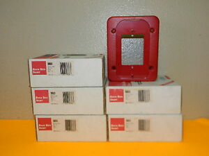 5x New System Sensor Spectralert Bbs Red Skirt Fire Alarm lot Of 5