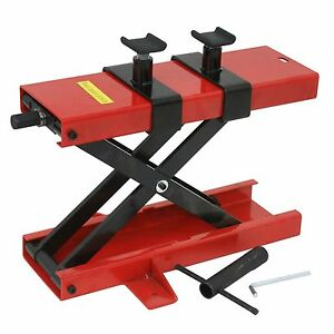 Red 1100 Lbs Bikes Scissor Lift Jack Stand For Deck Motorcycle Center Hoist Atv