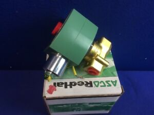 Asco 8263h300 Steam hot Water Solenoid Valve 2 way 2 position 1 4 nib