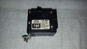 Fpe Federal Pacific Cutler Hammer Circuit Breaker Qbhw2045 45a 2 Pole