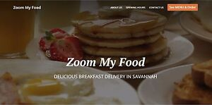 Local Deliver Service Website Platform zoom My Food Loyalty Card Site