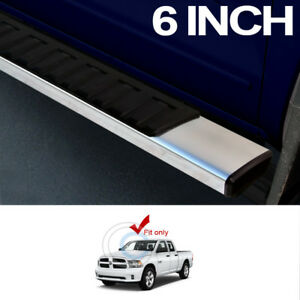 6 Oe Style Aluminum Side Step Rail Running Boards For 09 18 Dodge Ram 1500 Quad
