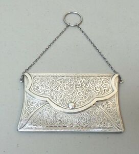Antique English Sterling Silver Calling Card Business Card Case 60 Grams