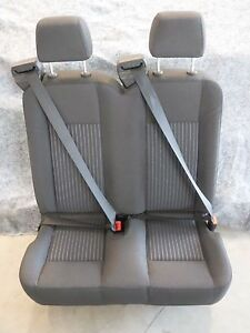 Ford Transit Oem Seat Charcoal Cloth 31 Dual Passenger Right passenger Univ