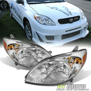 For 2003 2008 Toyota Matrix Headlights Headlamps Replacement 03 08 Left Rght Set