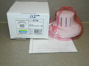 New Est Edwards 6270b Photoelectric Smoke Detector 24 Dc Fire Alarm