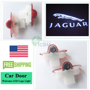 2x Led Door Lights Cree Laser Projector Logo Hd 3d For Jaguar Xj Xk X351 X Type