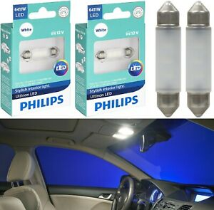 Philips Ultinon Led Festoon 6411 White 6000k Map License Plate Dome Trunk X 4