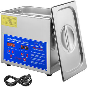Vevor Stainless Steel Industry Ultrasonic Cleaner 3l Heated Heater W timer