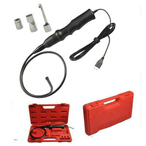 Dia 5 5mm Usb Endoscope Inspection Borescope Snake Camera W hook maganet mirror