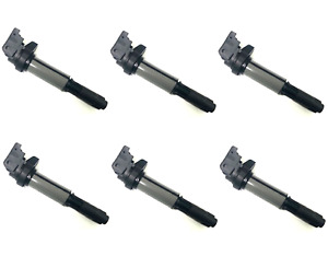 Set Of 6 Ignition Coils With Spark Plug Connectors Brand New For Bmw
