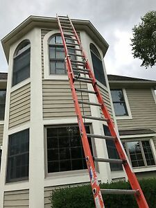 Werner 28 Ft Fiberglass Extension Ladder D6228 2