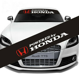 Reflective Powered By Honda Windshield Banner Decal Front For Car Honda Sticker
