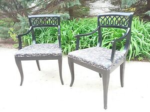 Vintage Klismos Arm Or Occasional Chairs Style Of Tommi Parzinger