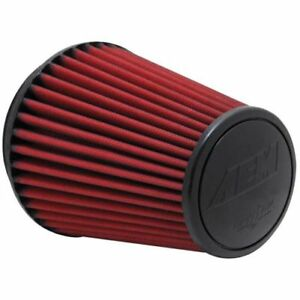 Aem 21 2100dk Dryflow Round Tapered Red Air Filter
