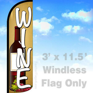 Wine Windless Swooper Feather Flag 3x11 5 Winery Banner Sign Yq