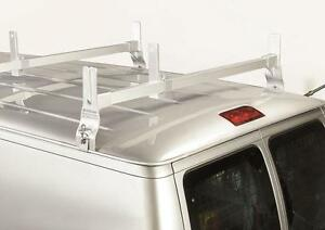 Heavy Duty Steel 2 Cross Support Ladder Rack For Ford E series Vans