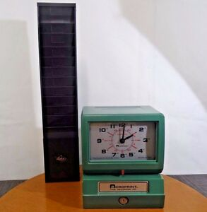 Acroprint Model 150er3 Automatic Time Recorder With Lathem Card Holder Repair