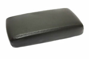 Fit 05 12 Nissan Pathfinder Black Vinyl Leather Center Console Lid Armrest Cover