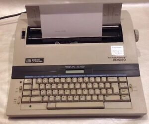 Working Smith Corona Xd 5250 Portable Electric Typewriter Dictionary Excel
