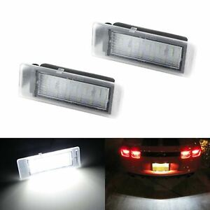 White Can bus Led License Plate Lights Assy For Chevy Camaro Corvette Ss Ats Cts