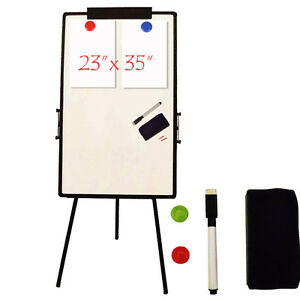 Adjustable Large Magnetic Whiteboard Dry Erase Board Easel Aluminum Frame Office