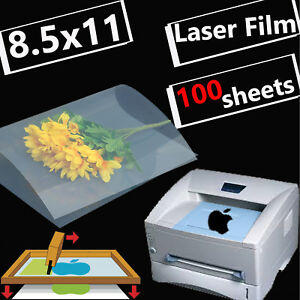 8 5 X 11 screen Printing Milky Transparency Film For Laser Printer 100 Sheets