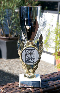 Very Nice Vintage Automobile Cup Trophy Adac Rally Winner Amc Peiting 1988