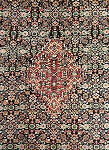 Beautiful Bijar 1930s Antique Persian Herati Rug Bidjar Oriental 8 11 X 12 2