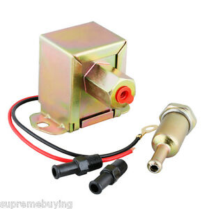 New 12v 2 4 Psi Low Pressure Universal Electric Fuel Pump With Metal Fuel Filter