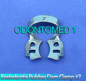 12 Endodontic Rubber Dam Clamp 7 Dental Instruments