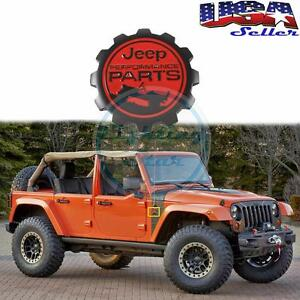 1pc Metal Black Red Badge Performance Parts Fender Sticker For Jeep Wrangler