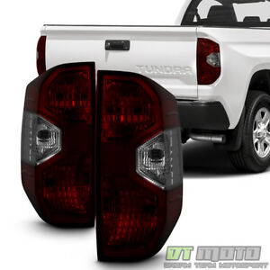 For red Smoke 2014 2015 2016 2017 Toyota Tundra Tail Brake Lights Left right