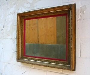 Vintage Large Ornate Gold Wood Framed Wall Mirror Statement Piece 32 X 29