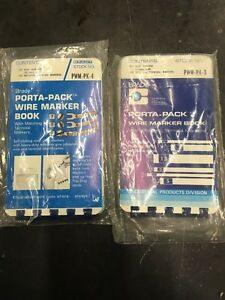 Lot Of 2 Brady Pwm pk 3 4 B 500 Black On White Number Wire Marker Pocket Size