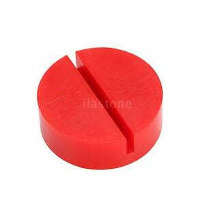 Universal Red Floor Jack Disk Pad Adapter For Pinch Weld Side Jackpad V0j2