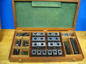 Moore Jig Grinder Jig Borer Precision Set up Block Set W case vgc