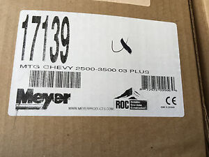 Meyer Snow Plow Mounting Kit 17139 Chevrolet 2500 3500 03 Chevy Truck Plow Kit