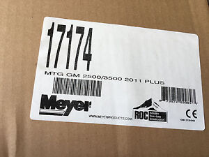 Meyer Snow Plow Mounting Kit 17174 Chevrolet 2500 3500 2011 Chevy Plow Mt Kit