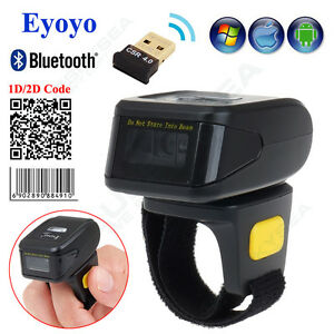 Mini Bluetooth Ring 2d Scanner Bar Code Reader Ccd Cmos For Ios Android Tablets