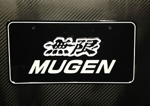Jdm Ukdm Mugen Honda Vanity Aluminum License Plate Civic Crx Integra S2000 Fit