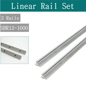 2pcs For Cnc Sbr12 1000 Fully Supported Linear Rail Slide Guide Shaft Rod